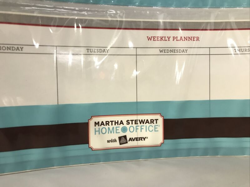 """Martha Stewart Home Office with Avery Dry Erase Weekly Planner 23 7/8"""" x 5 7/8"""""""