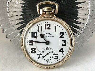 NICE HAMILTON 992B 16 Size Railway Special 21 Jewels Pocket Watch - Minty!
