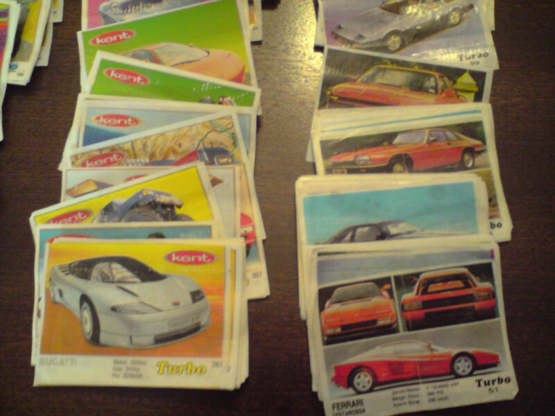 RARE Bubble Gum Wrappers Turbo 587 Different Numbers