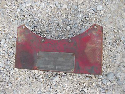 Mccormick Deering F20 Farmall Tractor Ih Tool Box W Serial Tag