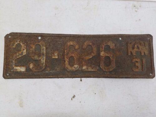 1931 KANSAS Osage County License Plate 29-626