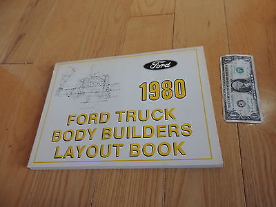 1980 FORD TRUCK BODY BUILDERS LAYOUT BOOK SERVICE MANUAL