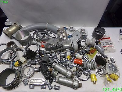 Huge Mixed Lot Of Electrical Fittings Conduit And More