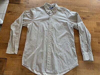 Polo Ralph Lauren Hemd Grau Blütenmuster Gr.L Custom Fit online kaufen