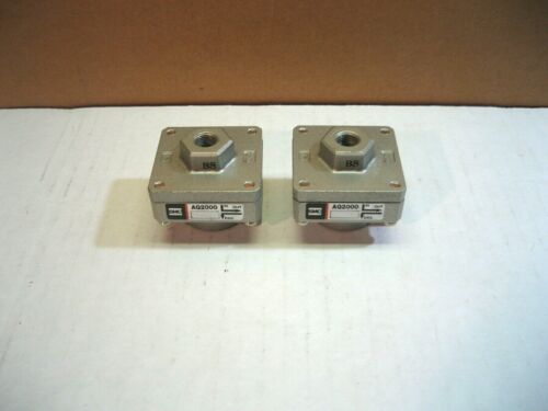 Pair of 2 SMC Exhaust Valves AQ2000