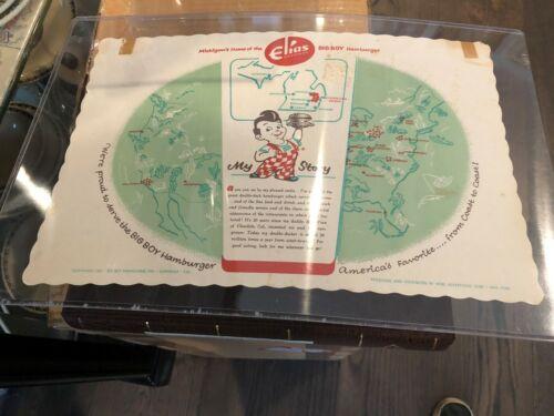Rare Elias Brothers Big Boy Restaurant Paper Place Mat