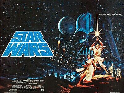 "STAR WARS 1977  Hi Quality repro Hildebrandt quad poster 30x40"" Pre Academy Awds"