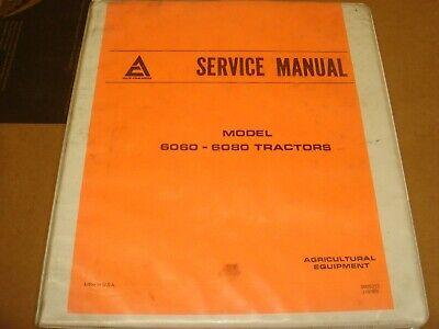 Oem Allis Chalmers 6060 6080 Tractor Service Repair Shop Manual 9005313