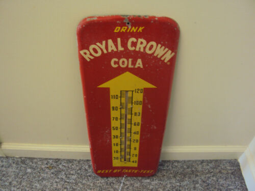 VINTAGE ADVERTISING ROYAL CROWN COLA THERMOMETER    866-V