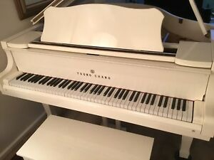 Young Chang G150 white baby grand piano great player! Ex condition