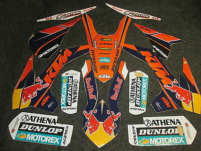 KTM SX/SXF 125-450 2013-2015  Factory Team USA graphics + plastic kit GR1310