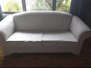 Cream three seater sofa - FREE Cheltenham Hornsby Area Preview