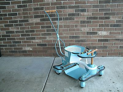 VIntage Taylor Tot Style Metal Stroller Walker with fenders blue & white