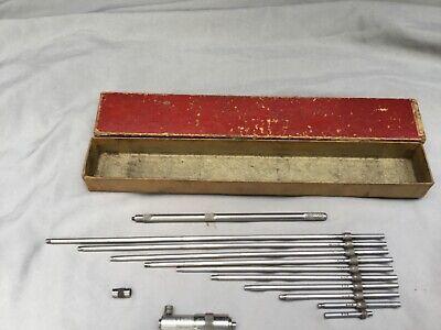 Starrett 2 To 12 Solid Rod Inside Micrometer Set No. 124b