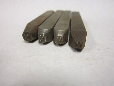 Letter X Machine Made Individual Steel Stamp 332 Character Height Lot Of 4 Pcs