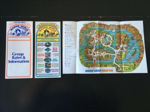 1977 Marine World Africa USA California Group Rates & Info, Map, Show Info Card