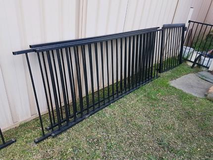 Black fence panels