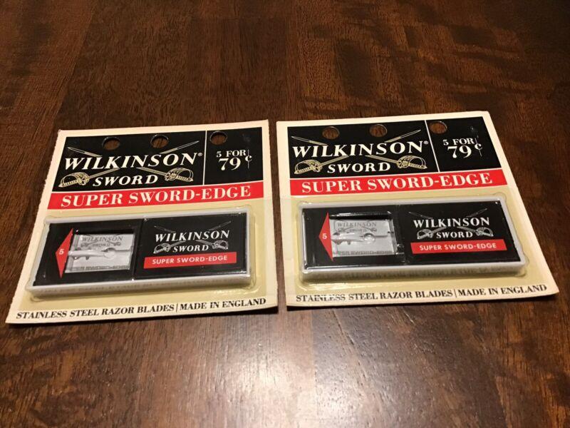 Vntg Wilkinson Sword Stainless Super Sword-Edge Razor Blades England NOS