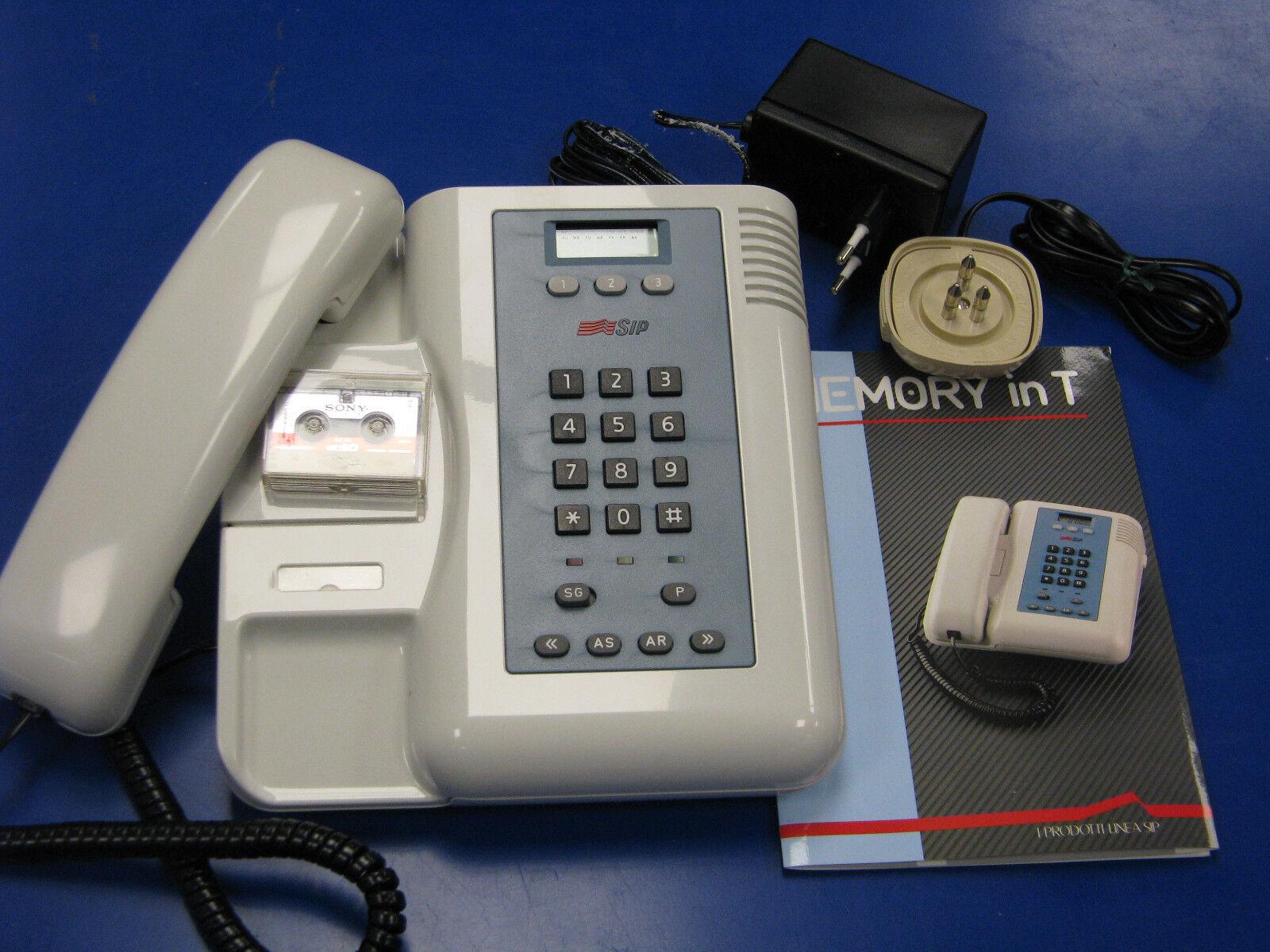 Telefono + segreteria telefonica MEMORY in T SIP Giugiaro Design NUOVO vintage
