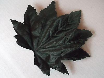 Schwarz Großen Blättern (20 GROßE SCHWARZE DEKO - AHORN BLÄTTER , künstliche Blätter schwarz ! 10,5 cm !)