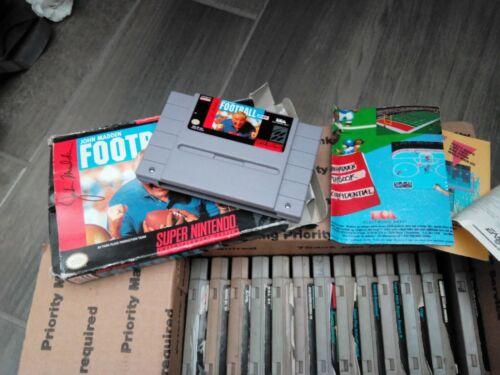 SNES Super Nintendo Lot Of 17 Games- Madden NFL, Bulls vs Blazers, Super Scope.