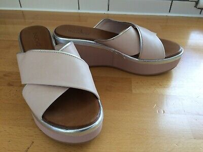 Inuovo Dusky Pink Womens Slip On Mules Sandals Eur 38 UK5 Worn Once Real Leather