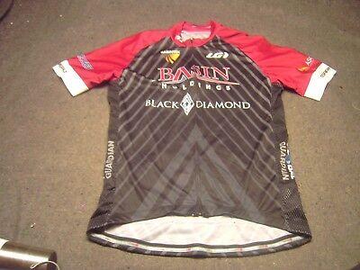 231d3e340 LOUIS GARNEAU Black Diamond Burgundy Black cyclist jersey Size Large