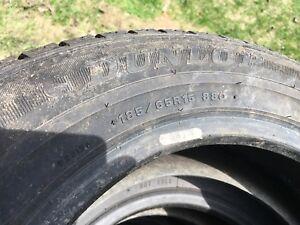 4 pneus d'hiver Dunlop