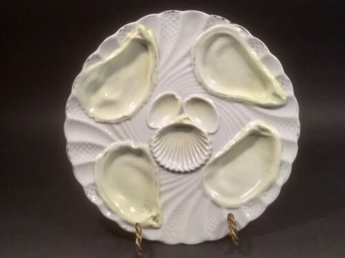 Oyster Plate    Antique Imperial & Royal Porcelain  Oyster Plate Yellow Wells