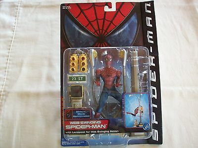 Spiderman Web Swinging Action Figure – MOC – With Lamp Post