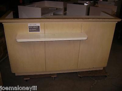 Kiosk Retail Counter Blonde 1002 75 12 X 25 12 X 43h