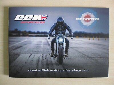CCM Spitfire Motorcycle Range UK sales Brochure (2018)