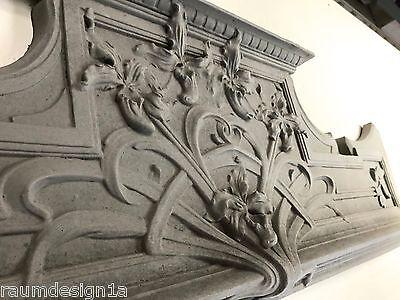 Stucco  - Supraport 104-379B aus Beton Jugendstil Türbekrönung Fassade Sopraport