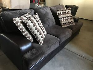 Leather/Suede Couch