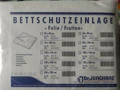 Bettschutzeinlage - Fole / Frottee - 120 x 200 Dr.JUNGHANS wasserdicht, kochfest