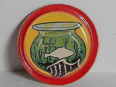 VTG 1950 CRACKER JACK MAGIC PUZZLE CAN YOU GET THE FISH BACK IN THE BOWL (Magic Fish Bowl)