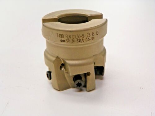 """ISCAR    #T490-D1.50-5-.75-R-13,    1.5"""" INDEXABLE FACE MILL              L054"""