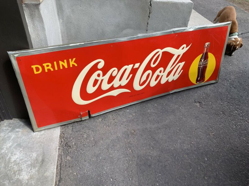 Vtg Advertising Drink Coca Cola  Sign