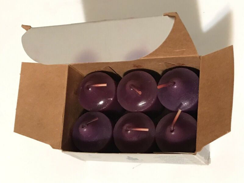 PartyLite Midnight Blossom V0670 Votive Candles - Box of Six - Discontinued