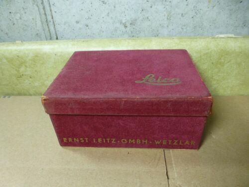 Vintage Leica LOOPN IIIf Velvet Camera Box- Empty Box Only
