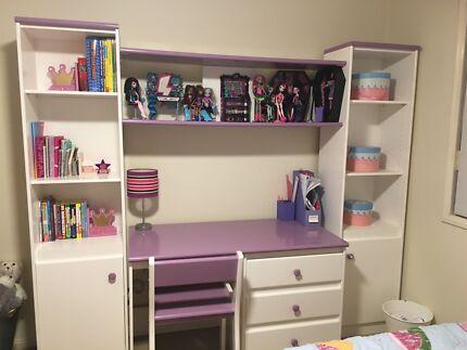 Harvey Norman S Workstation Study Desk With Bookshelves