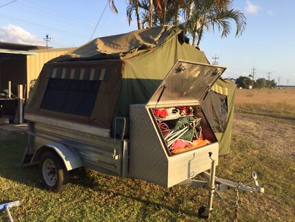Thick canvas camper trailer for sale Airlie Beach Whitsundays Area Preview