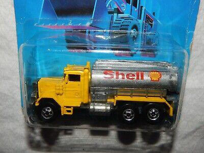 Hot Wheels Peterbilt SHELL Tank Truck - Workhorses Card - 1989 - New