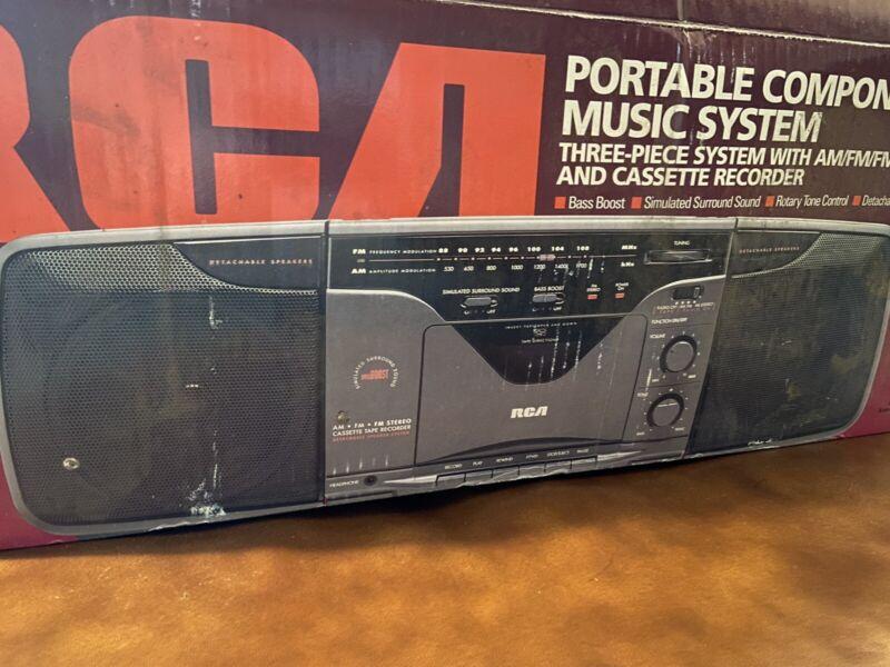 Vintage RCA Boombox Ghetto Blaster Casstte Radio Brand New! RP-7824