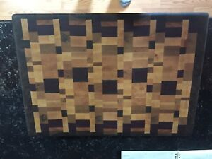 Custom solid wood end grain cutting board block