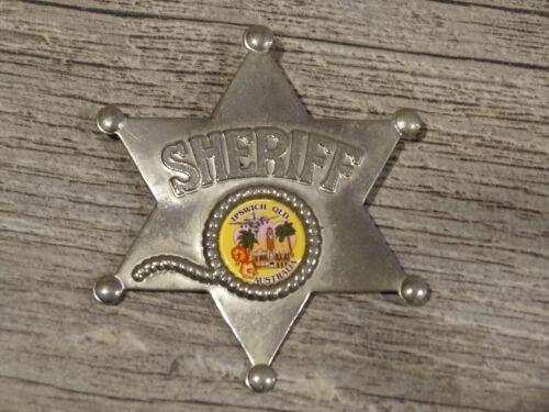 Vtg. Metal Sheriff Badge /Pin of Ipswich, Queensland, Australia
