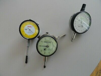 Mitutoyo 2109s-10 Federal C81q Mhc Industrial Dial Indicators Lot Of 3