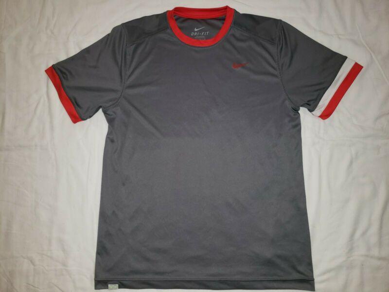 Nike Mcenroe Dri Fit Mens Tennis Shirt Vented Pattern Back Medium
