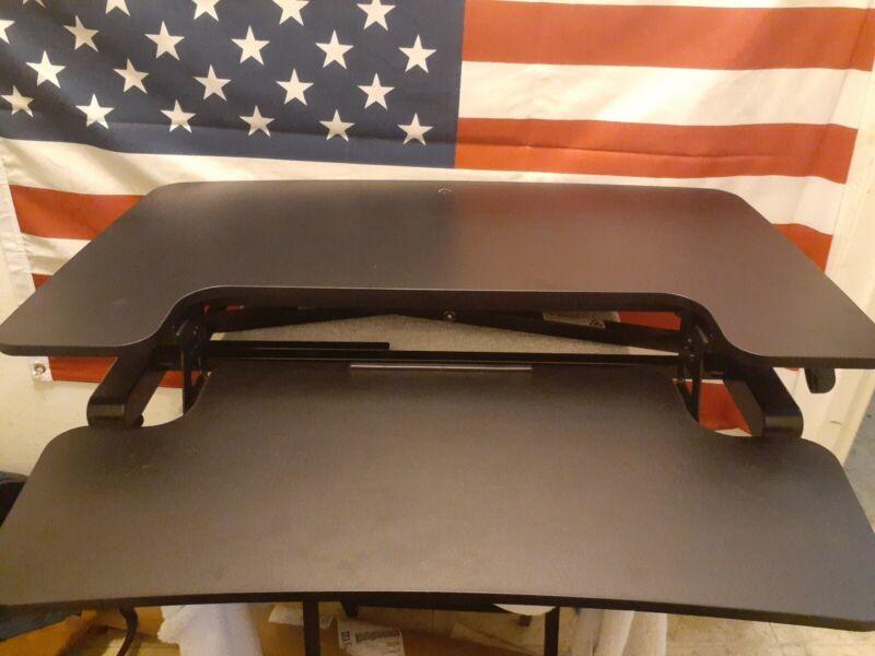 FLEXISPOT Stand Up Desk Converter 32 Inches Standing Desk Riser Adjustable Black