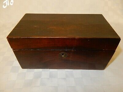 Antique Mahogany Two Section Tea Caddie  (J10)